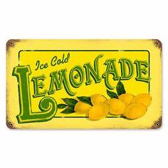 Lemonade Food and Drink Vintage Metal Sign   eBay