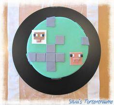 Silvia's Tortenträume: Minecraft Minecraft-Kuchen Torte Smarties-Überraschung Smarties-Füllung einfach Rezept Anleitung