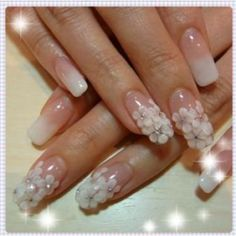 Bride 3d nails