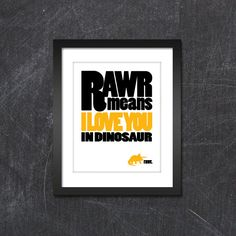 8x10 Triceratops RAWR Print by JSGD on Etsy--this so like my Sam.