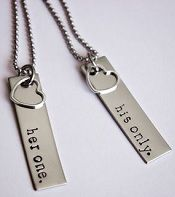 His/hers necklaces. Cute