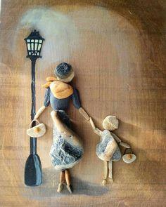 of the Best Creative DIY Ideas for Pebble Crafts .- der besten kreativen DIY-Ideen für Pebble-Kunsthandwerk – Kata Fizl – of the Best Creative DIY Ideas for Pebble Crafts – Kata Fizl – … - Pebble Painting, Pebble Art, Stone Painting, Stone Crafts, Rock Crafts, Arts And Crafts, Art Crafts, Pebble Pictures, Stone Pictures