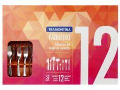 Faqueiro Tramontina 52 Peças Inox - Laguna 66906/863 com as melhores condições você encontra no Magazine Raimundogarcia. Confira!
