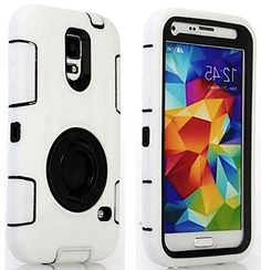 "myLife Three Layer Shockproof ""Built In Screen Protector"" Security Armor Case for Galaxy S5 by Samsung {Basic White and Brunet Black with Ring Stand ""Protective Tuff Shell Design"" Hybrid Triple Piece BOX Protector Shield with Rubberized Gel} myLife Brand Products http://www.amazon.com/dp/B00QR32BCY/ref=cm_sw_r_pi_dp_uJ-Xub0F7VR82"