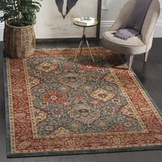 Safavieh Mahal Collection Traditional Oriental Navy and Red Area Rug x - Very easy to use.This Safavieh that is ranked 114278 in th Persian Motifs, Persian Rug, Persian Carpet, Navy Rug, Red Rugs, Traditional Decor, My Living Room, Living Room Decor, Bedroom Decor