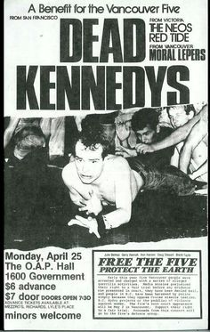Old Punk Flyers - Dead Kennedys Rock Posters, Band Posters, Art Music, Music Artists, Rockabilly, Dead Kennedys, Punk Poster, Vintage Concert Posters, Concert Flyer