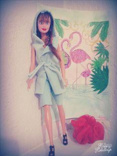 diy barbie casual light blue outfit for the gym ~sewing pattern~