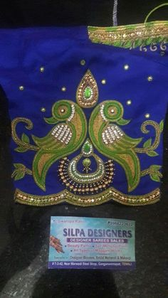Full Sleeves Design, Sleeves Designs For Dresses, Sleeve Designs, Zardosi Work Blouse, Pattu Saree Blouse Designs, Simple Blouse Designs, Bridal Blouse Designs, Mirror Work Blouse Design, Maggam Work Designs