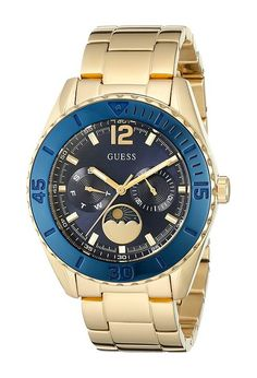 GUESS U0565L4 (Blue/Gold) Sport Watches - GUESS, U0565L4, U0565L4-000, Jewelry Watches Sport, Sport, Watches, Jewelry, Gift, - Fashion Ideas To Inspire
