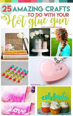 Today I have a super fun roundup for you–25 AMAZINGLY cool crafts that you can make with your Hot glue gun! And I am not talking about felt flowers and gluing stuff together–I'm talking HOT GLUE as the star of the show! Making designs, jewelry, art! So many amazing ideas!!! If you don't have a …