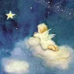 Illustration by Erica Von Kager Swiss illustrator Angel Images, Angel Pictures, Christmas Angels, Christmas Art, Photo Ange, Engel Tattoo, Good Night Image, Angels Among Us, Angel Cards