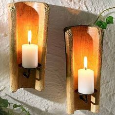 Make your room romantic with this candle lighting ~ Stylishly Home Interior Designs Clay Roof Tiles, Recycling, Roof Cleaning, Candle Wall Sconces, Stylish Home Decor, Candle Lighting, Best Interior Design, Home Improvement, Candle Holders