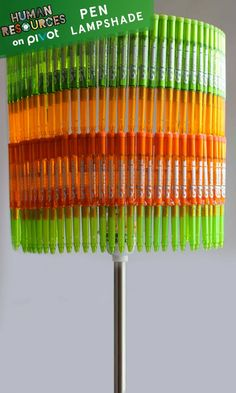 Transform your tired old lampshade into a crafty new table lamp! It's a great look for any techie or even a kids room. Look around, there are DIY projects all around you. Learn more!