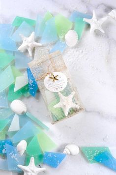 Sea Glass Soap In Bag Hand Cut Natural Soap 5 oz. by latikasoap, $12.00