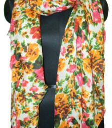 Buy ASIATIC FLOWER MULTICOLOUR COTTON SCARF scarf online