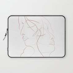 Authîel Minimalist Laptop Sleeve by weivy Presents For Friends, Good Cause, Laptop Skin, Ipod Touch, Ipad Case, Tech Accessories, Laptop Sleeves, Line Art, Ivy