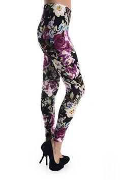 Purple Passion WL-165 – Mayberrys Funky Leggings, Passion, Purple, Pants, Style, Trousers, Stylus, Women Pants, Women's Pants