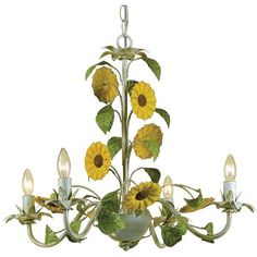 Af Lighting Elements Kansas Sunflowers Chandelier ($273) ❤ liked on Polyvore featuring home, lighting, ceiling lights, beige, chain lighting, cream lamp, hanging chain lamps, soft white lights and ivory lamp