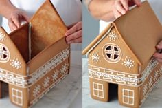 Follow these steps on how to construct the gingerbread house and decorate it however you like.