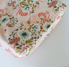 Pink Floral Baby Bedding - Fitted Crib Sheets / Floral Baby Bedding Vintage Rose…