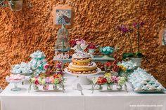mesa de doces fofa