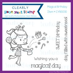Magical Birthday (clear set) [CYNS030] - USD 7.96 : Your Next Stamp