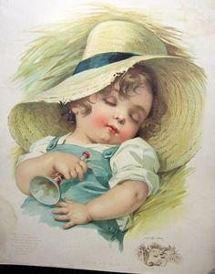 Charming 1900's Antique Maud Humphrey Little Boy by CozinestHollow, $18.00