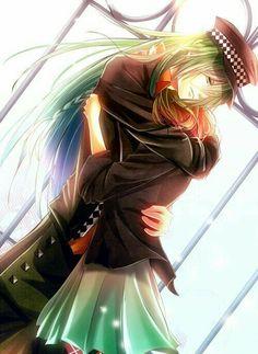 Heroine, Ukyo, hugging, cute, couple; Amnesia Memories