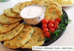 Petrezselymes lapcsánka Quiche Muffins, Pancakes, Hungarian Recipes, Hungarian Food, Hummus, Side Dishes, Vegan Recipes, Goodies, Food And Drink