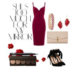 """""""Too Much for my Mirror"""" by mor94tz ❤ liked on Polyvore featuring Aloura London, Rika, Gianvito Rossi, Dolce&Gabbana, Anne Sisteron, Effy Jewelry and NARS Cosmetics"""