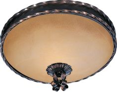 View the Maxim MX 20601 Aspen 2-Bulb Flush Mount Indoor Ceiling Fixture - Glass Shade Included at LightingDirect.com.