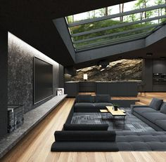 Roof Architecture, Modern Architecture House, Dream Home Design, Modern House Design, Home Roof Design, Interior Design, Luxury Homes Dream Houses, House Goals, New Homes