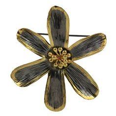 Broche pendentif Fleur en Argent 925 et plaqué or avec chaîne: ShalinCraft: Amazon.fr: Bijoux