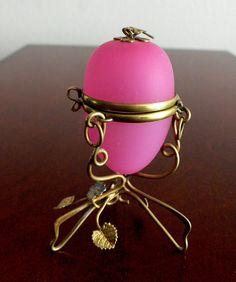 Antique French Pink Opaline Glass Egg Shaped Casket Box No Reserve | eBay