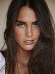 dark hair and freckles