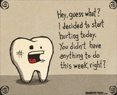 Tooth pain is no fun!  Call us today to get an appointment!  #toothache #teeth #dentist www.martinandshengdental.com