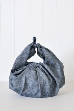 Kitchen Furoshiki - Nordic Blue by KOROMIKO. Use for carrying a variety of things or wrapping gifts.