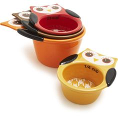 Owl Measuring Cups, Set of 4 | Sur La Table  Joni, I see your name all over these!:-)