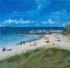 Key West Summer Beach Shore Coastal Blue by ClairHartmannFineArt, $85.00