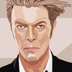 Illustration by Gina Julian. This illustration of David Bowie is available in three sizes. Each size includes a 1″ white border. Each giclée is printed with vibrant archival inks on archival matte sto