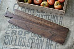Large Rustic Board in Walnut by vintagehomedesigns on Etsy