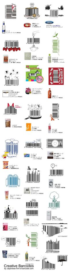 Japanese barcode design are too cute to realize~~~lol 這條碼也設計的太可愛了.... バーコード