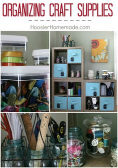 Let's get organized! Learn how easy is it to get your craft supplies organized and keep them that way! Use unusual containers to organize your craft supplies! Click on the photo to learn more! @bhglivebetter #BHGLiveBetter