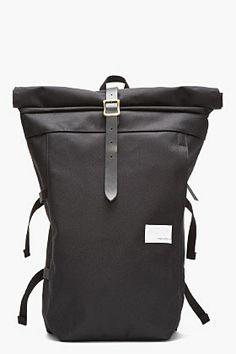NANAMICA Black Roll-Top Cycling Backpack