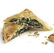 In this dish, Greek spanakopita (a phyllo, spinach, and feta pie) is re-imagined as a buttery, flaky puff pastry turnover.Position racks in the upper and lower thirds of the oven and heat the oven to … Tapas, Greek Recipes, Wine Recipes, Spinach Feta Pie, Fine Cooking Recipes, Spanakopita Recipe, Pepperidge Farm Puff Pastry, Macedonian Food, Puff Pastry Recipes