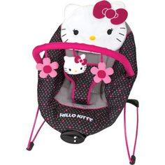 Baby Bouncer Hello Kitty Musical Soothing Safety Seat with Harness Plush Toys and Music Box by Baby Trend Hello Kitty Nursery, Hello Kitty Baby Shower, Hello Kitty Baby Stuff, My Baby Girl, Baby Love, Girly Girl, Baby Baby, Baby Bouncer, Baby Swings