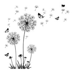 Fashion DIY Decal Dandelion Wall Stickers Adhesive Floral Wallpaper for Background in Bedroom Living Room Home Decor  $18.36    Description         This item is well made of premium material for durable and practical use without fading. With dandelion design, it looks incredible realistic to create a sweet and enchanting atmosphere when you put it on your wall.A beautiful art wall decal for your home or office and make your room a refreshing look. It is suitable for smooth surface…