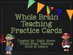 Classroom management ideas: FREE whole brain teaching practice cards. Brain Based Learning, Whole Brain Teaching, Behavior Management, Classroom Management, Class Management, Behavior Plans, Behavior Charts, Classroom Behavior Chart, Behavior System