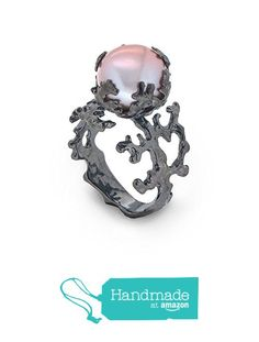 Black Oxidized Sterling Silver, 12mm Mauve-Pink Freshwater Cultured Pearl, Coral Reef Organic Statement Ring, Size 4 to 13 from Arosha https://www.amazon.com/dp/B01IBTY156/ref=hnd_sw_r_pi_dp_KeoEybR30FFPR #handmadeatamazon
