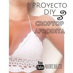 Paso a paso para hacer un croptop tejido al crochet! Suscribete a mi canal para mas videos tutoriales!
